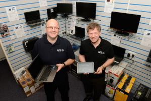 Steven Kerr, Sales Manager (left) and Lyle Williamson, Managing Director in our IT showroom